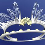 3D printable Wedding headpiece by Wilson Li