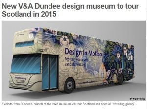 V&A Dundee 'Design in Motion' Travelling gallery | Credit Alicia Bruce
