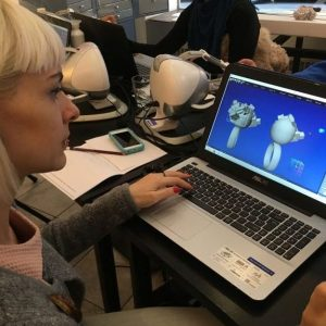Workshop in Vienna, 2017. Haptic Anarkik3D Design for 3D modelling for 3D printing.