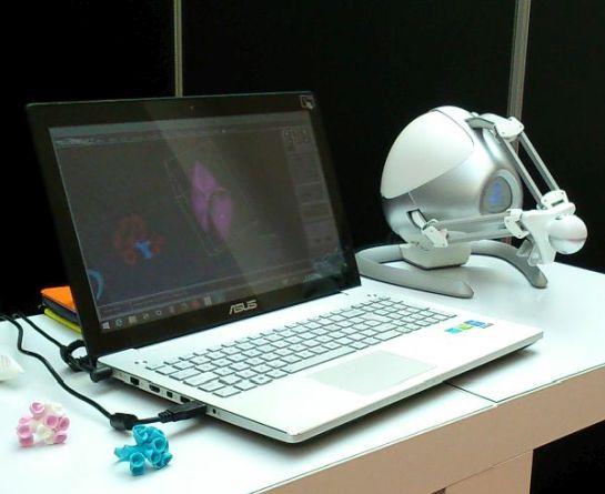 Anarkik3D Design: Cloud9 software, Falcon haptic device