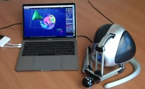 Completed set-up of Anarkik3D Design Loan Scheme: Cloud9 software and Falcon haptic device.