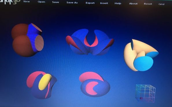 Free form designing using Anarkik3D Design haptic 3D modelling programme.