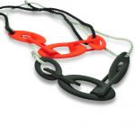 Anarkik Creator Genna Delaney: red_black chain in 3D printed and dyed polyamide