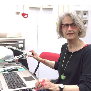 Birgit Laken, one of the workshop tutors using Anarkik3DDesign for 3D modelling