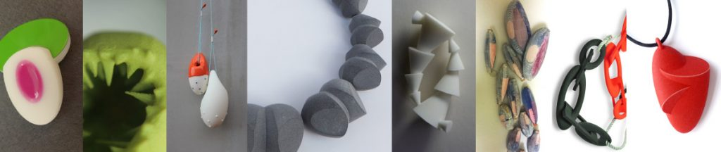 Some of the 3D printed work by designer makers who use Anarkik3DDesign.